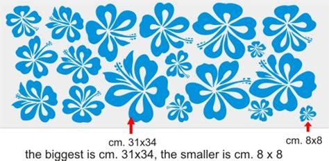 disegni fiori hawaiani adesivi auto moto kit fiori hawaiani cm 150x60 smart 500