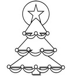 coloring christmastree calendar template