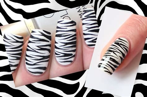 nails designs zebra print zebra nails easy zebra print nail art tutorial nail designs