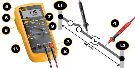 testing a diode with a fluke how to measure ac voltage with a digital multimeter