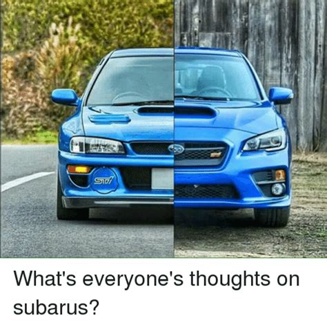 Smi What S Everyone S Thoughts On Subarus Mechanic Meme