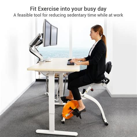 Office Desk Exercise Loctek Store Loctek U1 Fitness Desk Magnetic Recumbent Bike With Back Rest For Office
