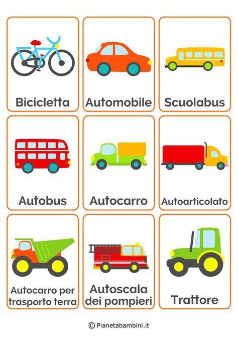 Puzzle Tombol Tranport carte tematiche per bambini i mezzi di trasporto