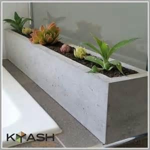 Concrete Succulent Planter polished concrete planter large rectangular 900mm succulent