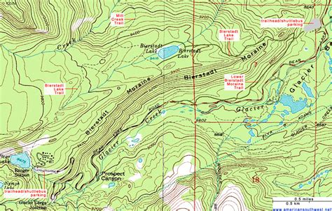topography map topographic map of the bierstadt lake trail rocky mountain national park colorado