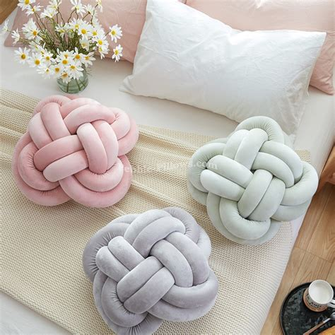 knot pillows creative home colourful knot cushion pillow sofa cushions