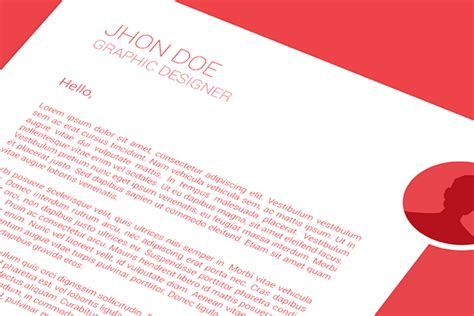 Graphic Illustrator Cover Letter by Flat Resume Cover Letter And Business Card Template On Behance
