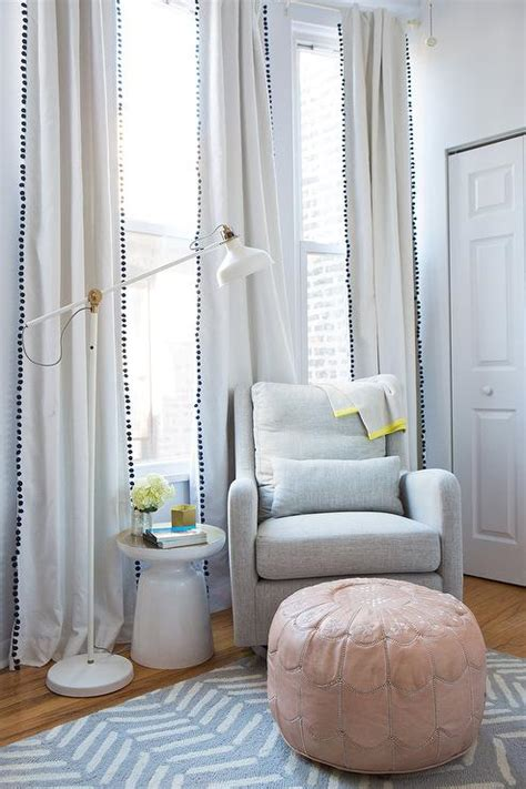 Ikea Nursery Curtains Land Of Nod Milo Glider With Ikea Ranarp Floor L Transitional Nursery