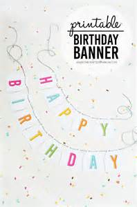 Free Birthday Banner Templates by Free Printable Birthday Banner