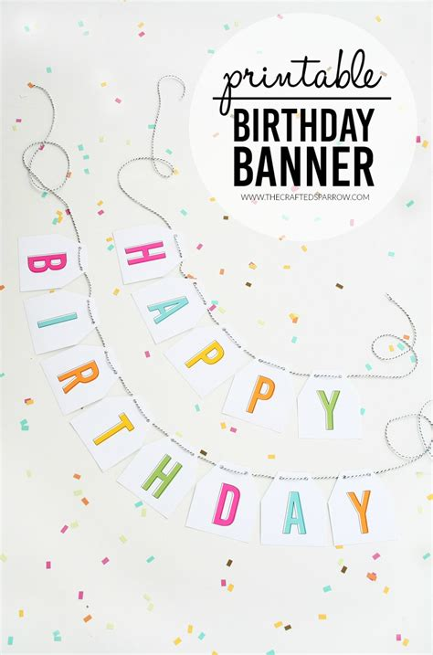 printable birthday banner free printable birthday banner