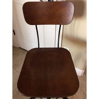 Jarie Black Chestnut Metal Wood Adjustable Stool by Jarie Black Chestnut Metal Wood Adjustable Stool Free