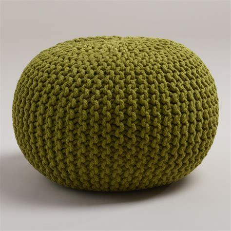 knitted pouf oasis knitted pouf world market