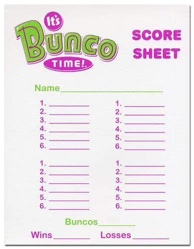 free bunco cards templates bunco score sheet template invitation