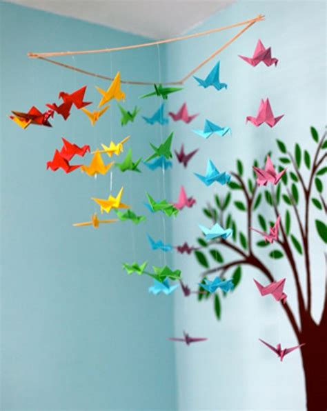 Make Origami Decorations - 20 origami decor ideas for a room kidsomania