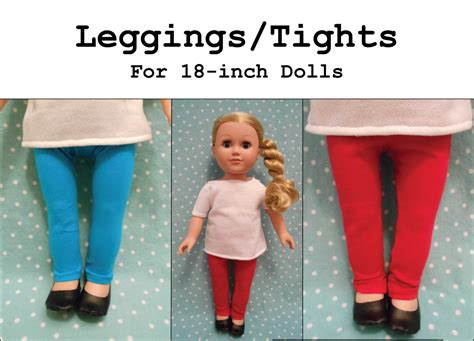 tights pattern for 18 doll pdf pattern leggings tights for 18 inch doll like