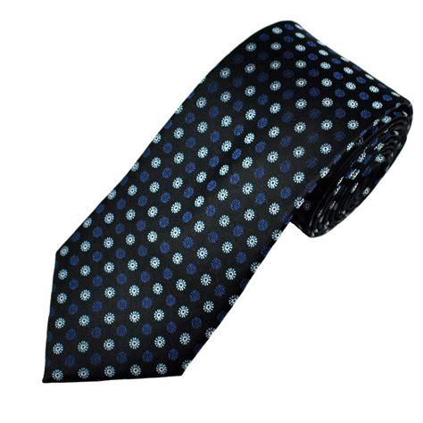 blue patterned ties black navy blue flower patterned men s silk tie from