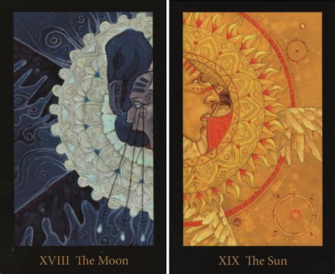 the mary el tarot the moon and the sun the mary el tarot deck sun moon stars tarot mary