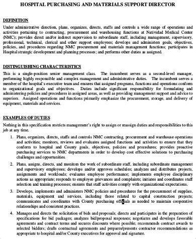 purchasing manager description sle 8 exles in word pdf