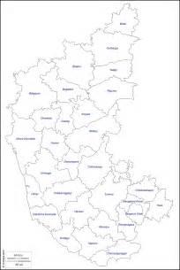 Karnataka Outline Map by Karnataka Free Map Free Blank Map Free Outline Map Free Base Map Outline Districts Names