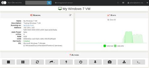 install windows 10 xenserver vm live metrics in xenserver with xen orchestra