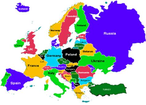 map of mainland europe europe continent voyages cartes