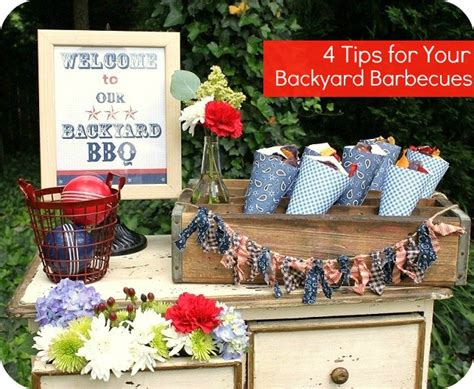 backyard bbq table decorations photograph ny barbecue deco