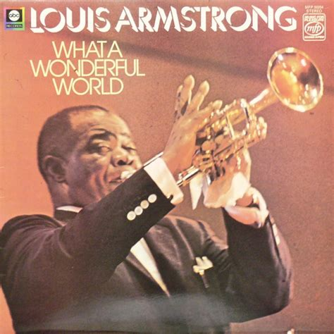louis armstrong what a wonderful louis armstrong what a wonderful world vinyl uk 1974