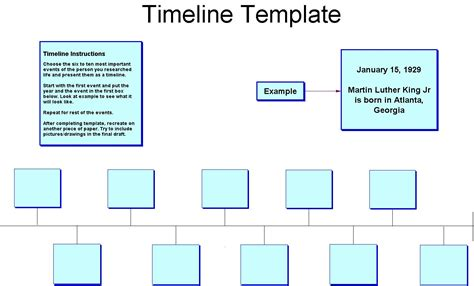 template for timeline printable blank timeline template
