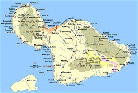 printable road map maui hawaii road map of maui kahului hawaii aaccessmaps com
