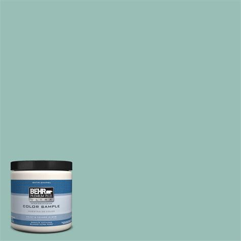 behr premium plus ultra 8 oz ul220 5 opal silk interior exterior paint sle ul220 5 the