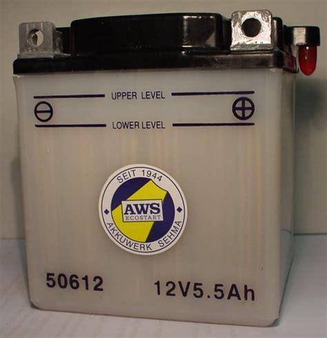 Motorradbatterie 12v 6ah by Motorradbatterie 12v 6ah C20 Batterie Ecke