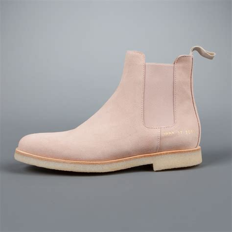 most comfortable chelsea boots woman by common projects chelsea boot in blush suede