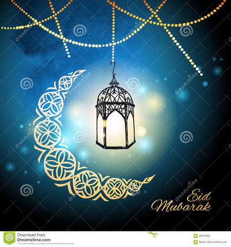eid mubarak template card eid mubarak greeting card template stock vector