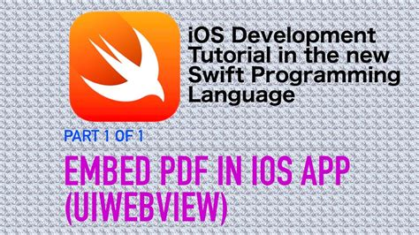 tutorial xcode español pdf embed pdf files in ios apps swift 3 xcode 8 ios 10 youtube