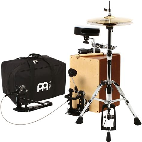 cajon cymbal meinl cajon drum set package with cable pedal caj drumset