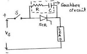 resistor capacitor snubber circuit thyristor questions answers engineering tutorial