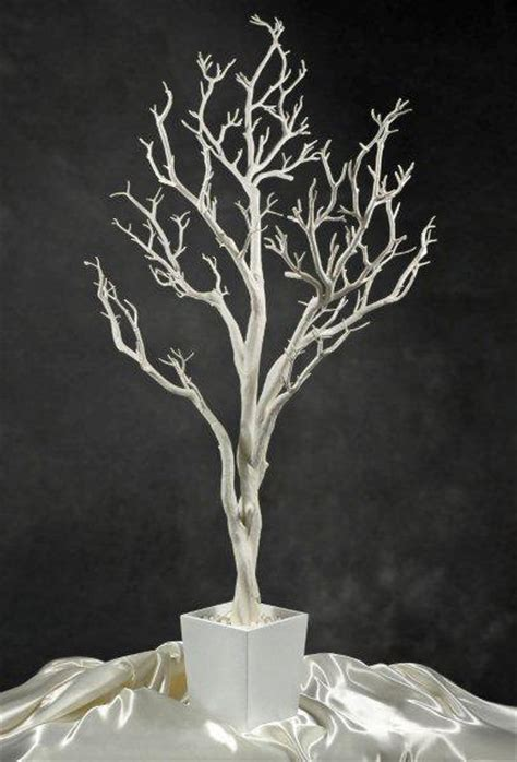 white potted wedding tree 4 foot tall