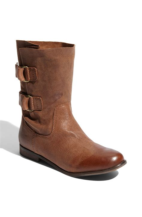 steven by steve madden gaven ankle boot in brown cognac