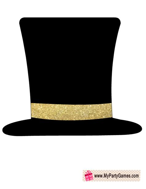 new years hat template free printable hat prop for new year joulu
