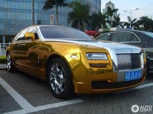 Rolls Royce Gold Chrome Gold Rolls Royce Ghost Looks Quite