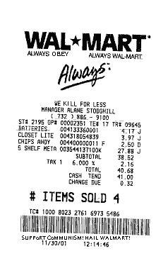 receipt walkthrough template of wal walmart store receipt www pixshark images
