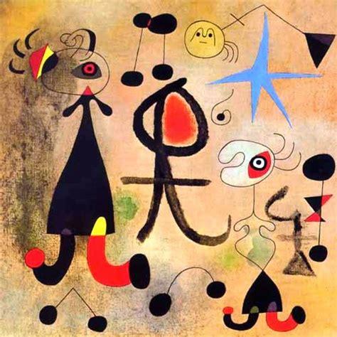 nombres de cuadros de miro pintores famosos joan mir 243 vida y obras pintura para