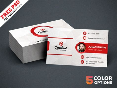Creative Visiting Card Templates Psd by Free Creative Business Card Template Psd