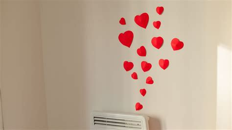 diy    simple  heart wall decoration  min