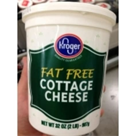 kroger free cottage cheese calories nutrition
