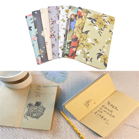 Agenda Note Book Flower Collection new arrival mini retro cover floral flower schedule book diary weekly planner notebook in
