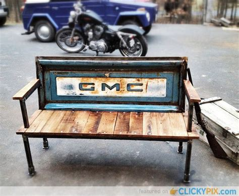 tailgate bench diy 41 diy truck tailgate benches upcycle a rusty tailgate