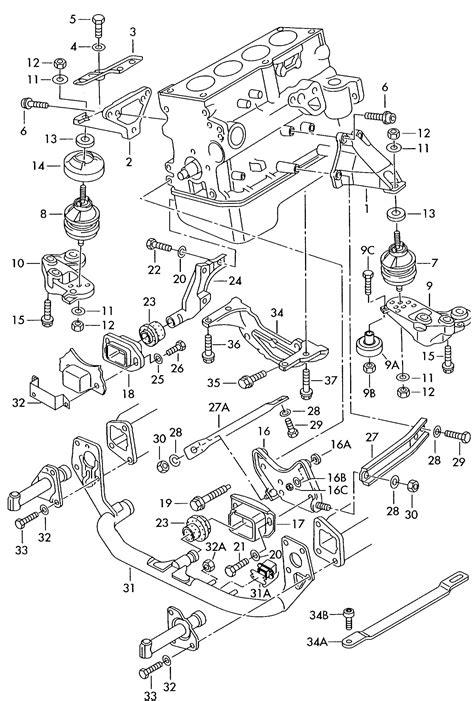 Volkswagen Passat Parts by 2001 Volkswagen Passat 1 8l Turbo Securing Parts For Engine