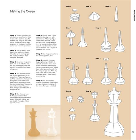 How To Make A Paper Chess Set - paper chess kell a black rob ives kartonmodelle