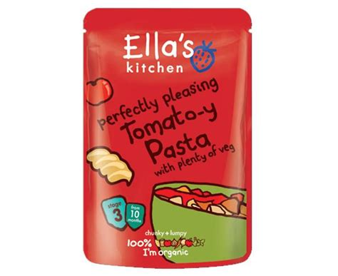 organic tomato y pasta baby food in 190g from ella s kitchen